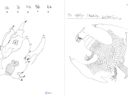 Deadly Dragons Designed and Drawn 7