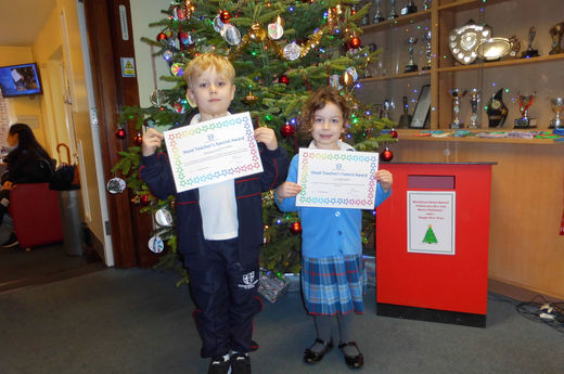 Head Teacher Award 6th December 2019