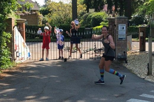Mrs Cripps runs to raise money for the NHS