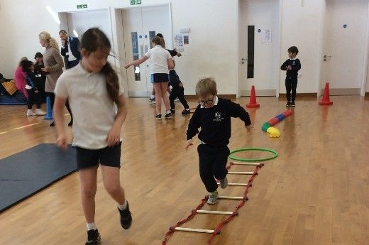 Pupils raise money for NSPCC with an obstacle course