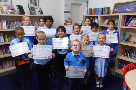 Head Teacher Award 11th October